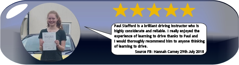 5 star review of pauls 5 star driving tuition ledbury
