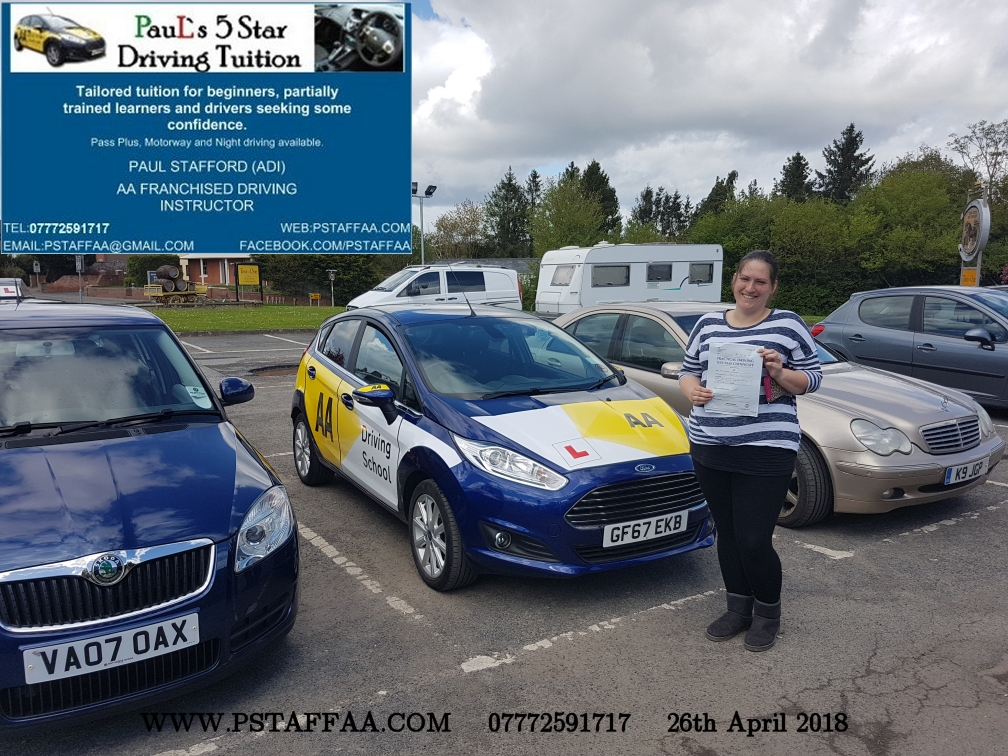 First Time Driving Test Pass Belinda Lopez with Paul's 5 Star Driving Tuition 0 Faults