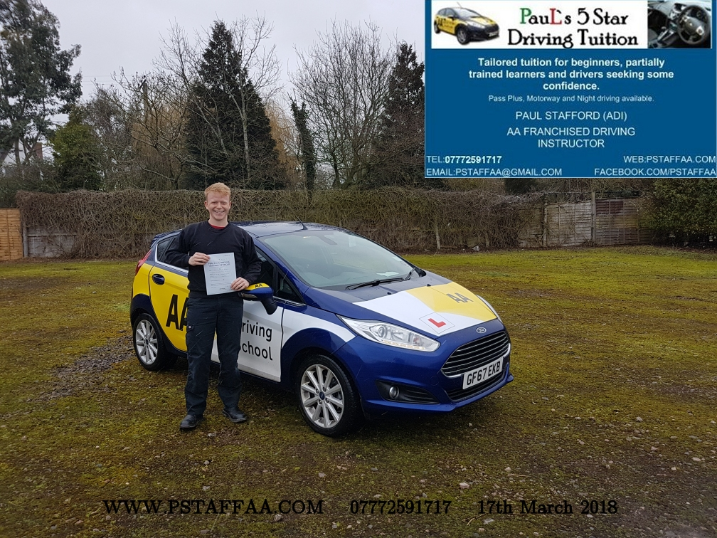 First Time Driving Test Pass Myles BN with Paul's 5 Star Driving Tuition