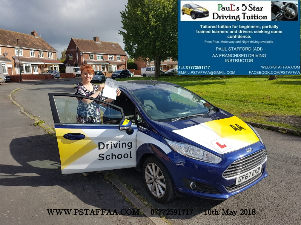 First Time Driving Test Pass Tetyanna with Paul's 5 Star Driving Tuition