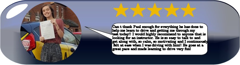5 Star review of pauls 5 star driving tuition