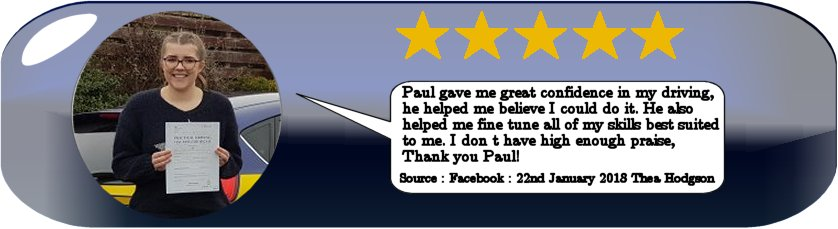 5 Star Review of Pauls 5 star driving tuition 2018