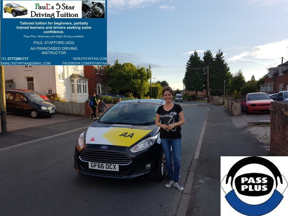 Pass Plus pupil Aleksa Z with Paul's 5 Star Driving Tuition