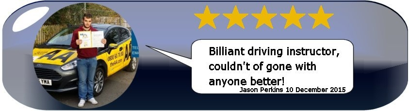 Review of Paul's 5 Star Driving Tuition from Test Pass Pupil Jason Perkins