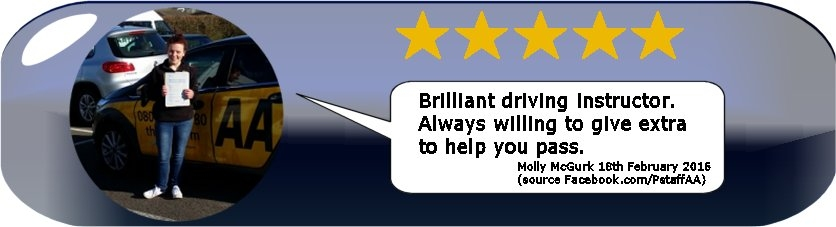 Review of Paul's 5 Star Driving Tuition from Test Pass Pupil Damian Symonds by Desmond Symonds