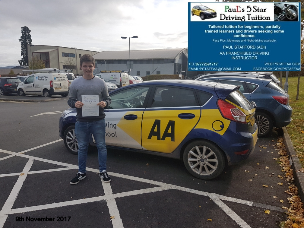Test Pass Pupil Ben Powel
