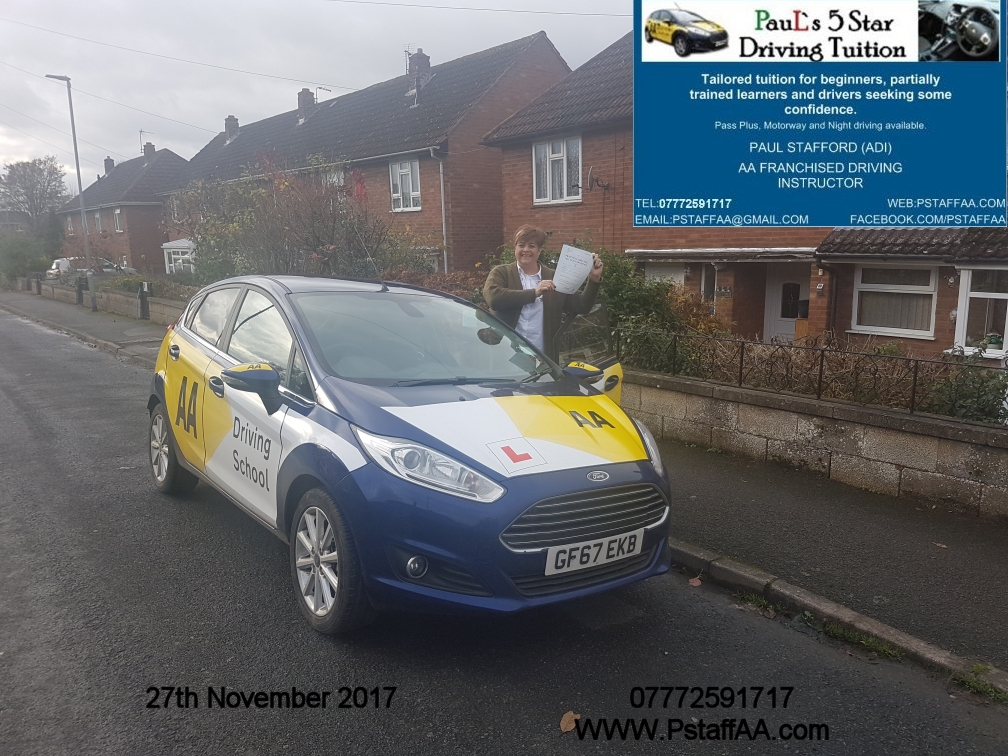 First Time Driving Test Pass Jo James with Pauls 5 Star Driving Tuition