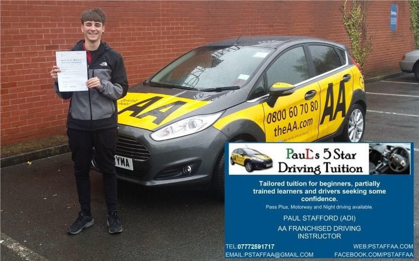1st Time Driving Test Pass Jakub Kowal in Hereford 110416