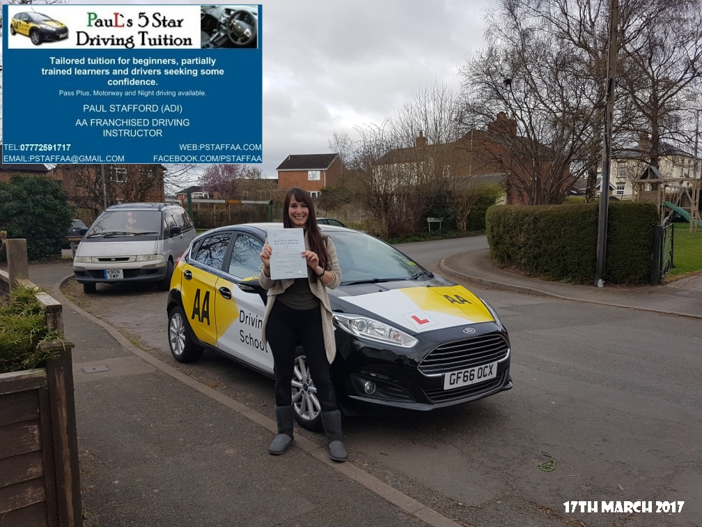 First Time Test Pass Myrto A with Paul's 5 Star Driving Tuition 2017