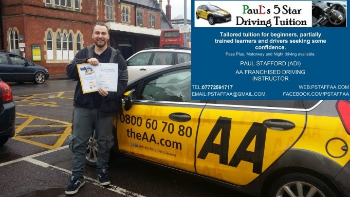 Passing my driving test with Paul's 5 Star Driving Tuition