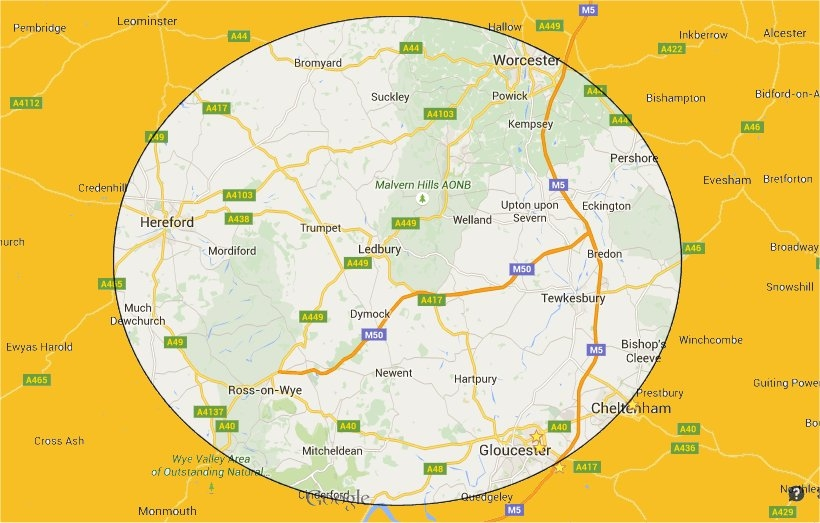 Area Covered by Paul`s 5 Star Driving Tuition